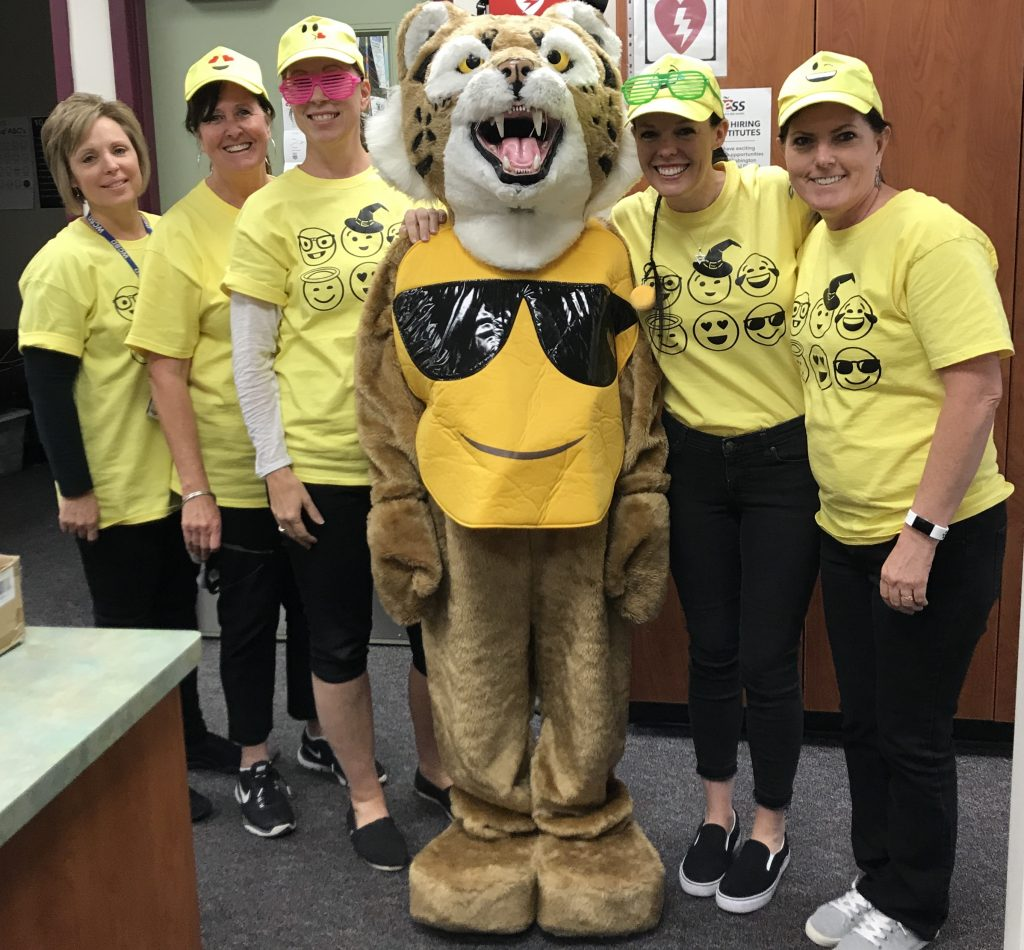Office Staff and Mascot Bob Halloween 2018