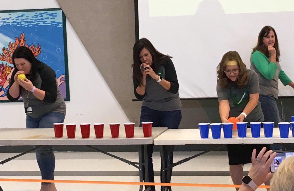 Teachers playing rodeo games